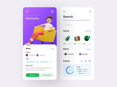 Humanity Illustrations + Appa = ❤️ ecommerce design landing 3d web application craftwork illustration