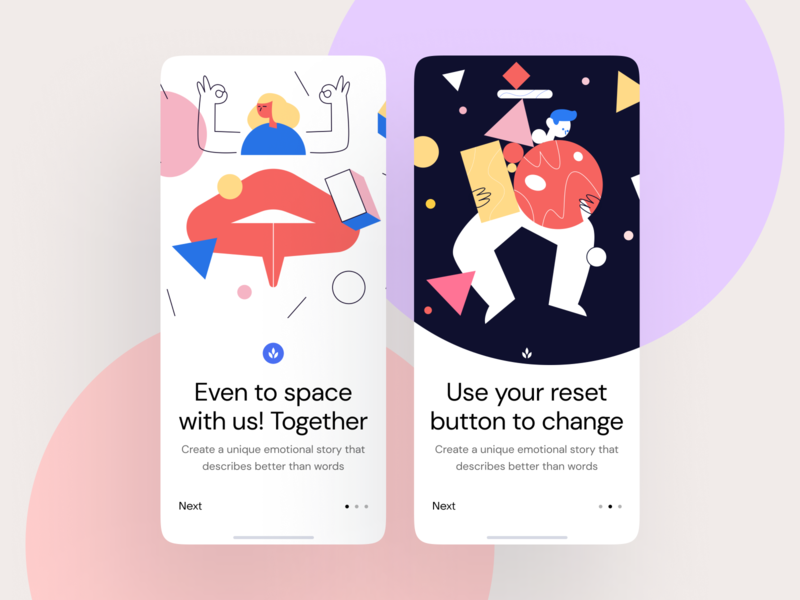 Struct Illustrations + UI = 🥰 sign up log out sign in 404 landing application website scenes world colorful uncommon unique funny modern vector illustrations update
