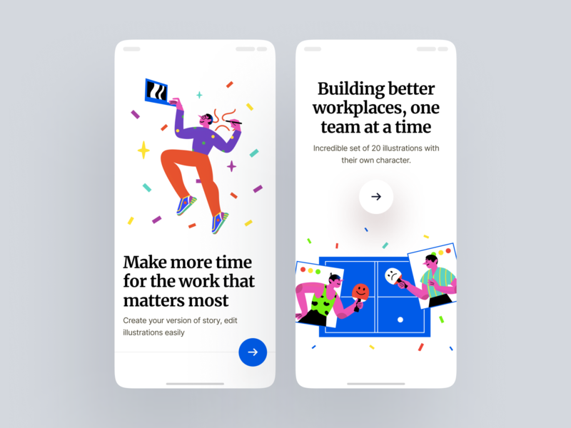 Blink illustrations screen ios applications app work scene stylish contrast lifestyle detailed modern colorful blink web sketch png ai svg