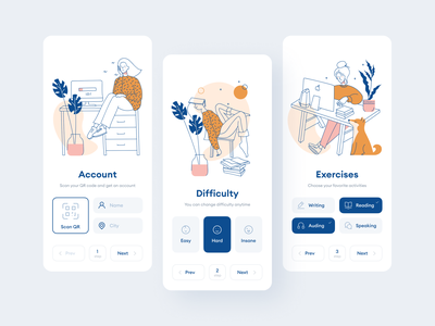 Introducing Wake Up Illustrations working work in progress waiting study app design uidesign uiux ui walkthrough site 404 app illustration application svg craftwork landing vector web