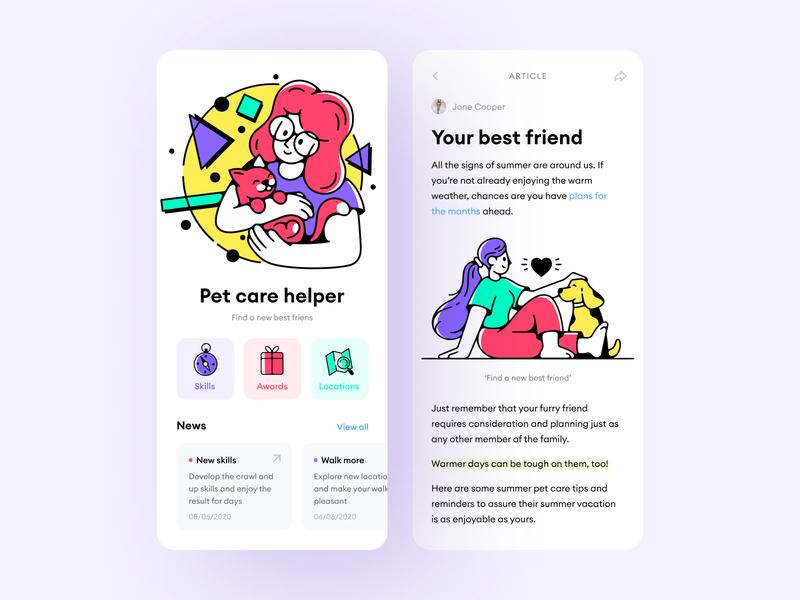 Meet Friday Illustrations! storytale ios uiux app design ui flat illustrations 404 walkthrough app illustration svg application craftwork web vector