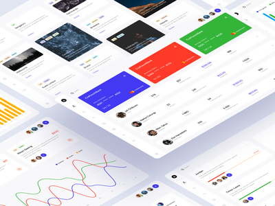 Dashboards Free UI Kit colorful bright vector icons widgets charts data statistic business ux ui templates desktop dashboard opensource freebie free