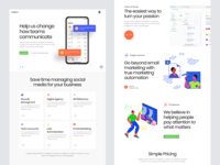 Singleton UI Kit pages customization component vector sketch styleguide colorful stylish landing object smart design block layout modern kit ui