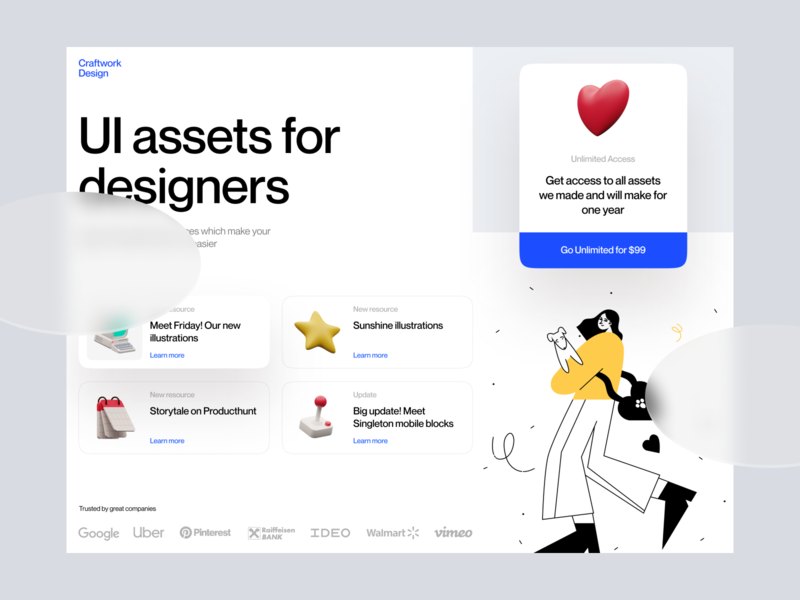 Superscene + OSLO 2 Illustrations launch startup project elements ui design landing application presentation website web app constructor scene colorful bright characters illustrations 3d