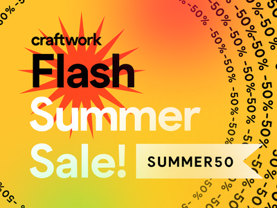 Flash Summer Sale -50% OFF for all products ⚡️ 50 discounts storytale craftwork salesforce sales summer flash illustration uikit giveaway discount sale