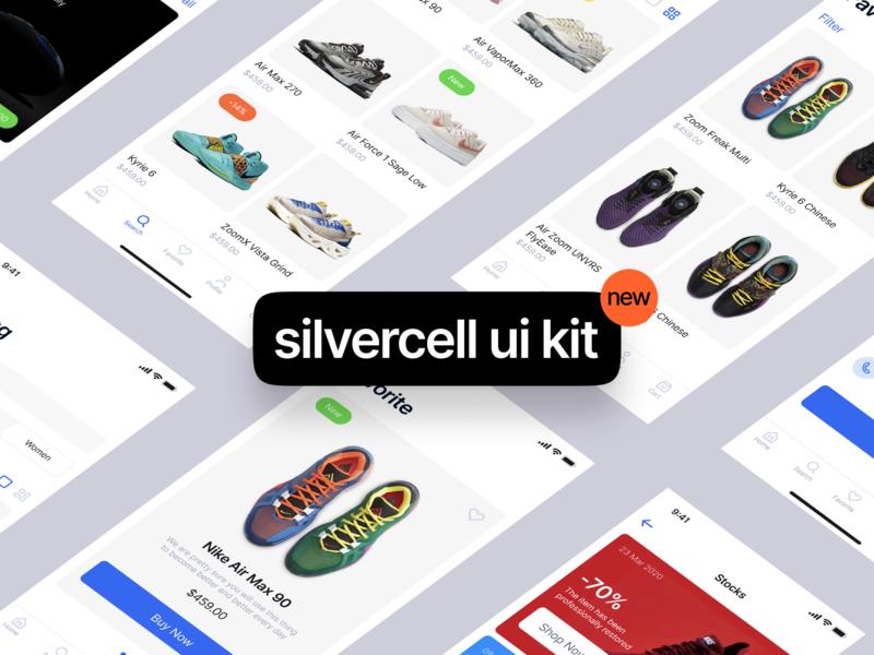 Introducing Silvercell iOS UI Kit ios app design uikits ios uikit walkthrough illustration app svg application website landing craftwork vector web