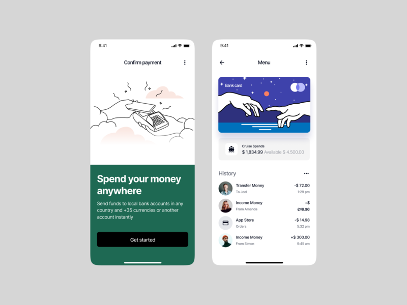 Midnight Illustrations + Apps = 🥰 workflow connection starry payment masterpiece art presentation app website web scene blue outline flat vector characters craftwork ui design