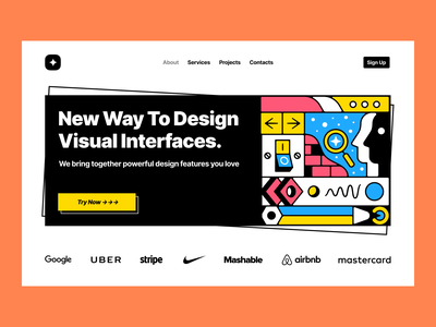 UX/UI Illustrations 🔥 bright icons company startup work technologies objects workflow business details white black monochrome colorful outline characters illustrations ux ui design