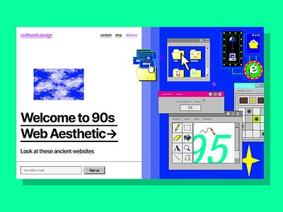 Ok, 2020. Here are '90s nostalgia old 90 windows design walkthrough illustrations illustration svg website craftwork landing vector web