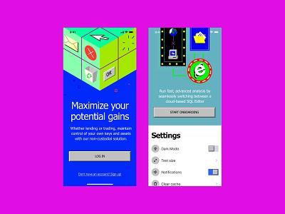 '90s illustrations + apps = ^_^ 404 design walkthrough illustrations illustration svg app application craftwork web