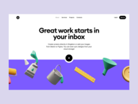 Superscene with landing page launch startup project elements ui design landing application presentation website web app constructor scene colorful bright characters illustrations 3d