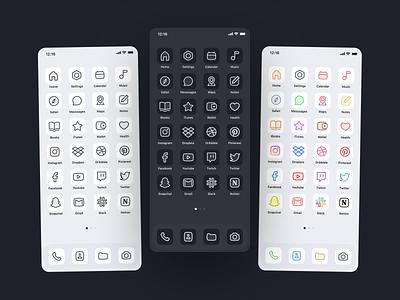 Meet ICOS! ipadpro icon icon design ipad iphone apple ios7 iconset web