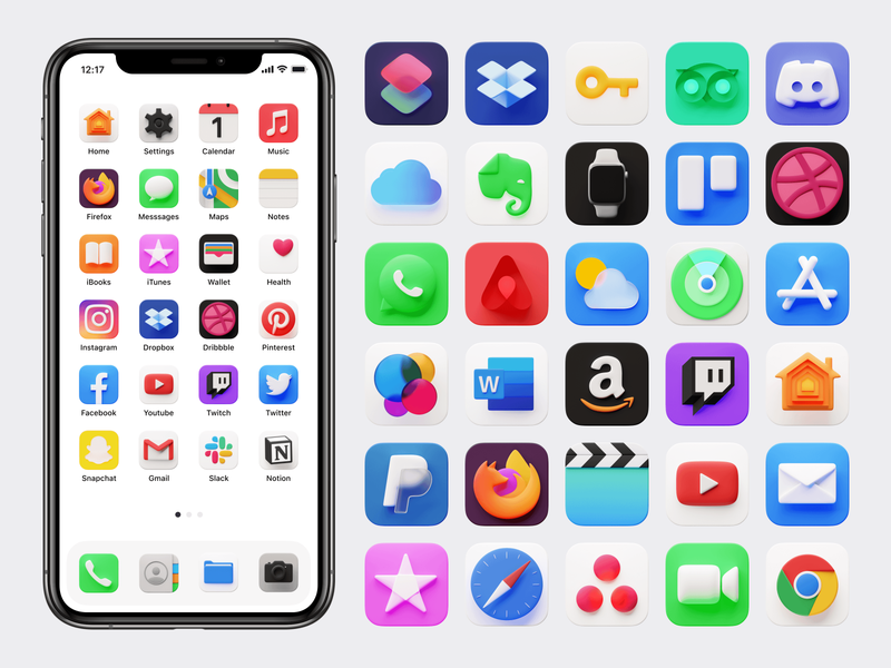 New Caramel 3D icons for iPhone 🔥 screen homepage bachground craftwork template texture colorful bright volumetric customization custom iphone apple ios icons 3d