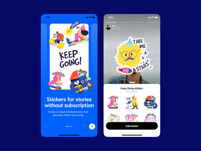 Keep Going Illustrations ✌️ motivation affirmation keep going stories instagram stickers illustrations illustration design app application craftwork vector