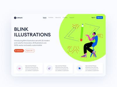 Blink Illustrations 🚀 colorful craftwork blink acid graphics acid juicy bright flat vector product characters illustrations uxui ux ui design