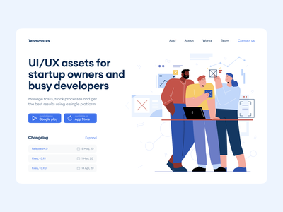 Teammates Illustrations 🧑‍💼👩‍💼 colorful application web website illustrations office work teammates discount flat vector illustration craftwork