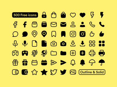 NEW FREEBIE: Basil Icons 🌿 freebie free black minimalistic solid outline icons design ui svg app website craftwork vector web