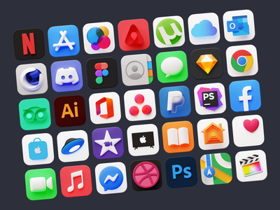 Meet new Flump 3D icons for macOS ❤️ volumetric product custom macos apple mac icons 3d colorful ux illustrations app ui design craftwork web