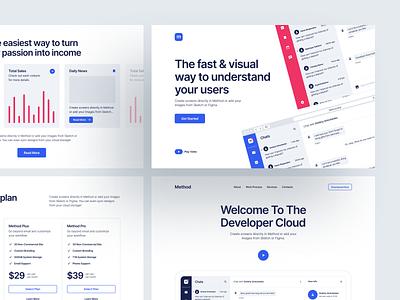 Method 4 🔥 code development dev method product branding ux design landing website craftwork web