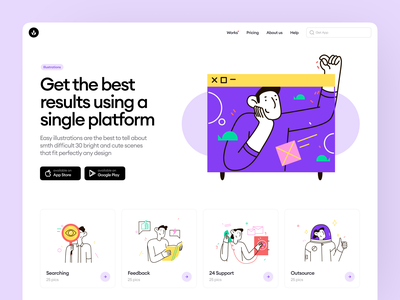 NEW: Easy Illustrations 👌 easy bright outline uxui branding colorful design ui illustrations application website craftwork vector web