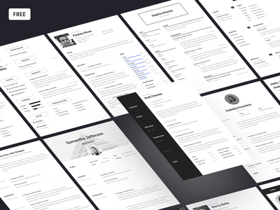 New freebie: Resume Templates 🧑‍💻 opening vacancy search job work cv template resume template resume curriculum vitae cv typography font style paper print template design craftwork