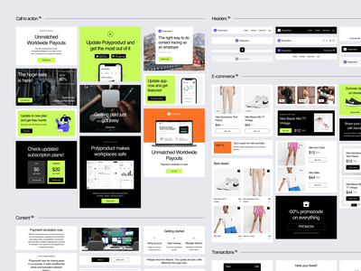 Polybox Email Templates 💚 sale craftwork email design email template email marketing product polybox templates email ui design web