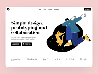 Open Space Illustrations 🪐 stars flat noisy bright dark night open space space characters cat dab colorful ui design illustrations website landing vector craftwork web