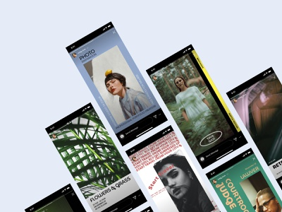 New Serpent Instagram Templates 🐍 inspiration colorful graphics social craftwork product new release serpent posts stories instagram stories templates instagram ui design application