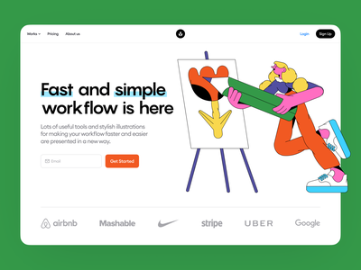 Canny Illustrations 🎨 canny creating creator create contrast characters colorful illustration ui design illustrations website landing vector craftwork web