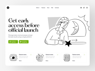 New Nankin Illustrations ✨ monochrome black  white product nankin new release typography ui illustration design illustrations website landing vector craftwork web