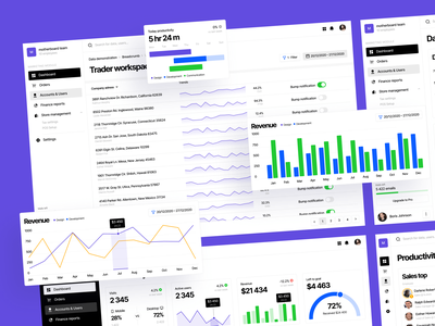 Introducing Motherboard UI Kit 🖤 motherboard reactjs figma css html code widgets charts dashboards colorful ui design application website landing vector craftwork web