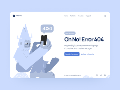 Free Error 404 Illustrations ⚡️ page not found free error 404 error 404 colorful illustration ui design illustrations website landing vector craftwork web