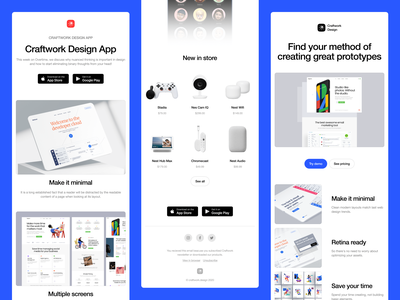 Introducing Letterbox Email HTML Templates 🌿 product hunt newsletter graphics css html css code html template email template newsletter email product mockups 3d illustration app ui illustrations web craftwork