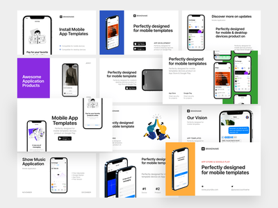 New Outreach Templates 🌿 presentation outreach clean iphone 12 ios iphone preduct new mockup app design colorful app ui design illustrations application website web vector craftwork