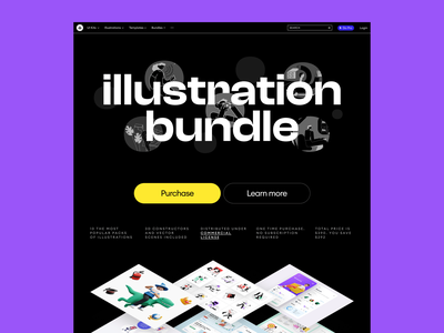 Meet Illustration Bundle ⚡️ product sale bundle colorful illustration illustrations design ui website landing vector web craftwork