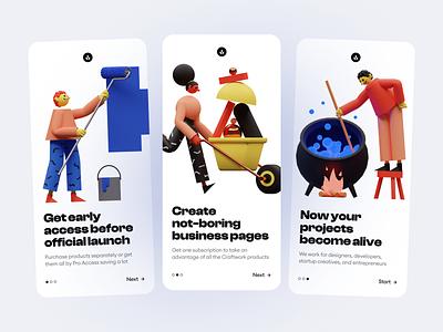 3DDD illustrations 🔥 3ddd product app design volume volumetric 3d colorful app illustrations design ui application craftwork