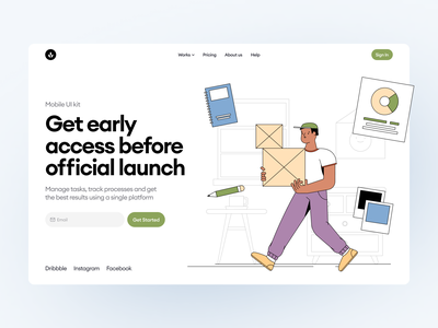Manufactory Constructor ⚡️ product manufactory tech business delivery colorful app illustrations design ui application website landing vector web craftwork