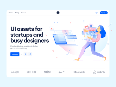 Meetup illustrations 🌿 gradients meetup colorful illustrations design ui application website landing web vector craftwork