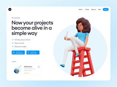 Humanity illustrations 🥤 woman girl character relax product 3d colorful illustrations design ui application website landing web craftwork
