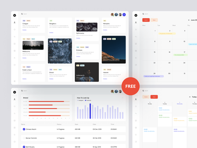 Dashboards UI Kit 🔥 analytics productivity calendar ux uxui uikit dashboards freebie free design ui website landing vector web craftwork