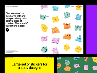 SOON: New bright stickers 🔥 sneakpeak soon release bright stickers wip colorful app illustrations design ui application web website landing vector craftwork