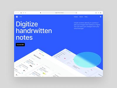 Laurent UI kit 💙 product laurent design ui application website landing vector web craftwork