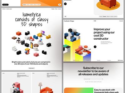 Isometrica 🧱 🖤 isometric constructor 3d illustration design ui application website landing web craftwork