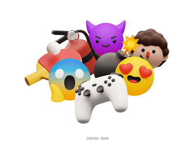 WIP: New 3D emojis in Superscene Constructor 😈 🔜 sneakpeak wip superscene constructor emojis product 3d illustration design ui application website web craftwork