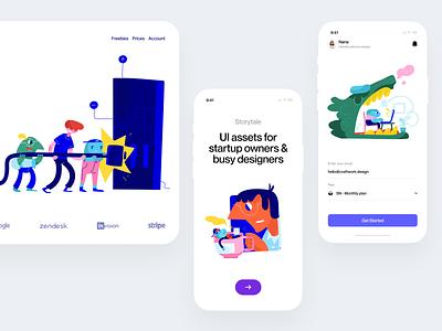 Cranks illustrations 🥰 product flat cranks illustration design ui application website landing vector web craftwork