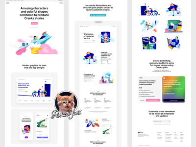 Cranks illustrations Product Hunt Launch 🚀 characters heroes cranks startup launch ph phlaunch illustration design ui application website landing vector web craftwork