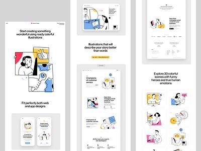 Do it illustrations illustration design ui application website landing vector web craftwork