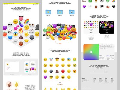 NEW: 3D emoji collection in Superscene 5 🚀 product emoji volumetric 3d illustration design ui application website landing web craftwork