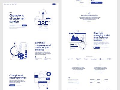 New Blueshift illustrations 💙 blue blank wireframe release new security business finance illustrations noisy grainy illustration design ui application website landing vector web craftwork