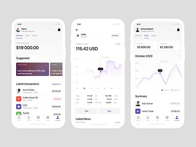 Nord Finance App iOS UI Kit 📱 ios bank finance ux clean mockups add design app nord design ui application vector craftwork